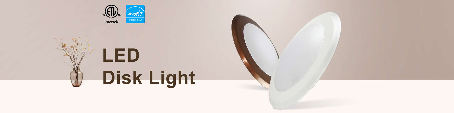 UL Led Disk Down Light From Worbest