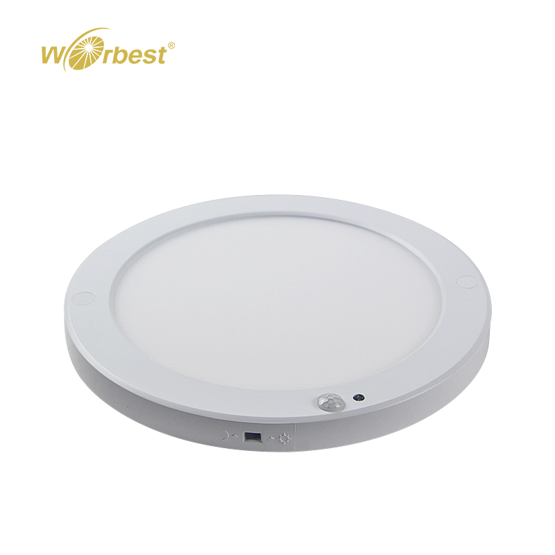 Worbest 12W Europe motion sensor Led slim round panel light