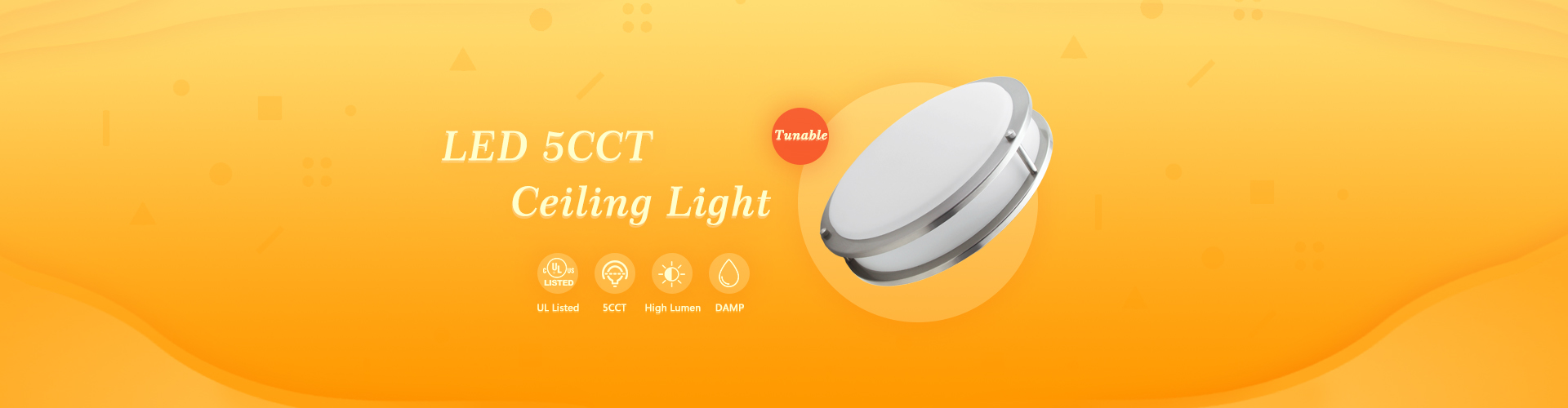 5CCT Led Flush Mount Light