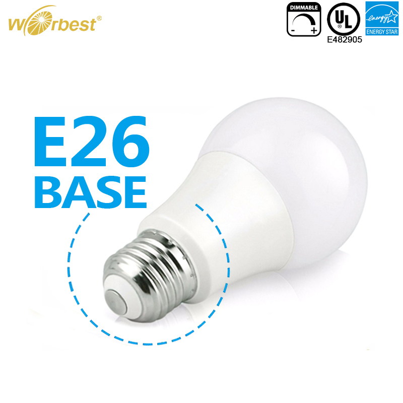 Worbest UL cUL Energy star 6W 6.5W 9W 10W 11W 12W 15W dimmable A19 LED bulb