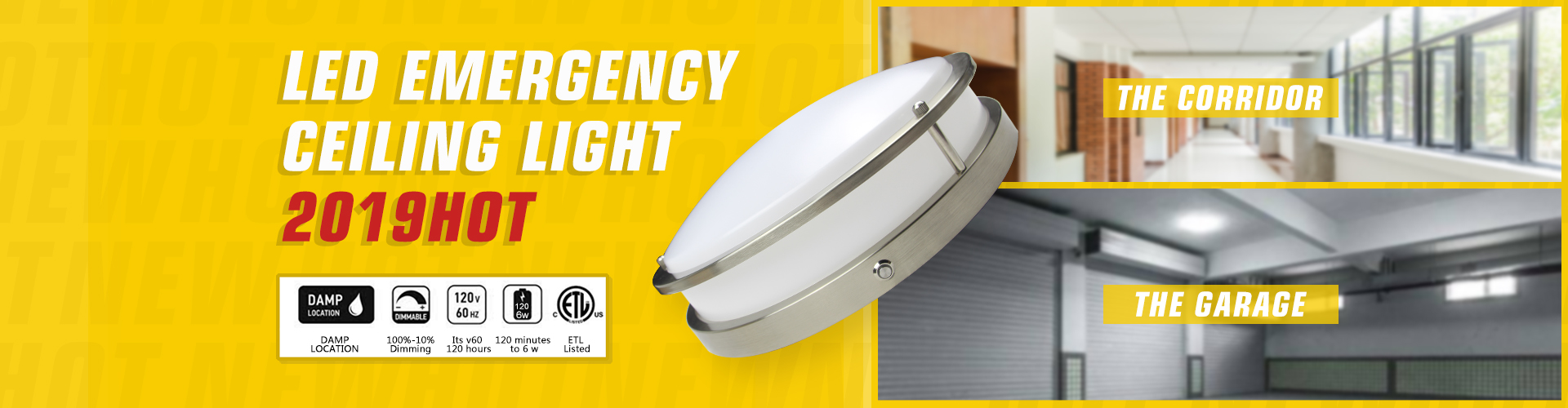 Worebst UL Led Emegency Led Ceiling Light