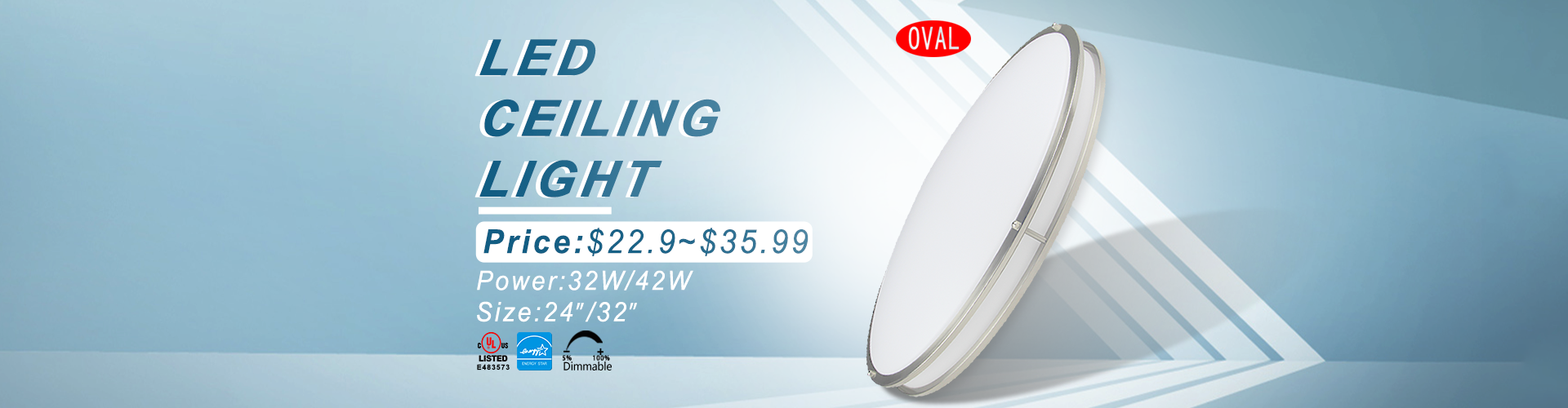 Worbest UL Led Flush Mount Ceiling Light