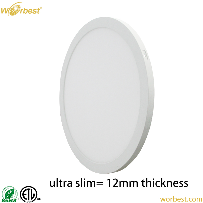 Worbest ETL 5inch 6W 7inch 12W 9inch 18W 12inch 24W Led Slim Panel Light - ETL Series